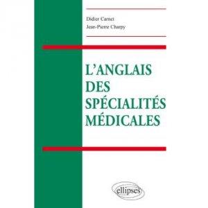 Couverture Carnet, Charpy, L'anglais des spécialités médicales